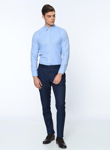 George Hogg Slim Fit Gömlek Mavi